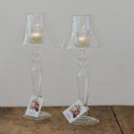lámpara de cristal para vela